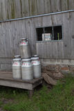 Milk Cans Stock Photo