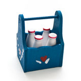 Milk in Carrier Royalty Free Stock Image
