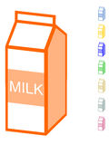 Milk carton Stock Photography