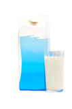 Milk carton box. Isolated on white Royalty Free Stock Images