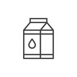 Milk carton box line icon. Outline vector sign, linear style pictogram isolated on white. Symbol, logo illustration. Editable stroke. Pixel perfect vector Stock Images