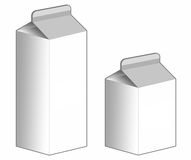 Milk Carton box - Stock Image Stock Image