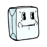 Milk carton cartoon character Stock Photography
