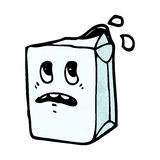 Milk carton cartoon character Royalty Free Stock Photos