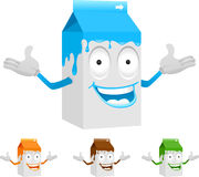 Milk carton character Stock Photo