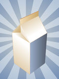 Milk carton container Stock Photo