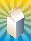 Milk carton container Royalty Free Stock Photography