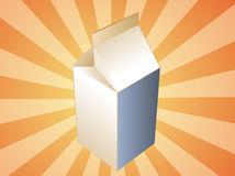 Milk carton container Royalty Free Stock Photos