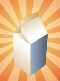 Milk carton container Royalty Free Stock Image