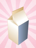 Milk carton container Royalty Free Stock Photo