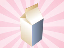 Milk carton container Stock Photos