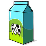 Milk carton box illustration Stock Images