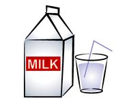 Milk Carton and Glass of Milk Royalty Free Stock Photo