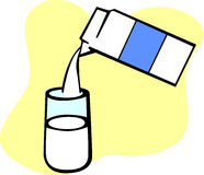 Milk carton and glass vector illustration Stock Images