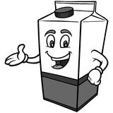 Milk Carton Illustration. A vector cartoon illustration of a Milk Carton Stock Photo
