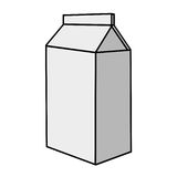 Milk carton package Royalty Free Stock Image