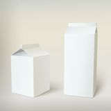 Milk Carton Packages Blank White Stock Photo