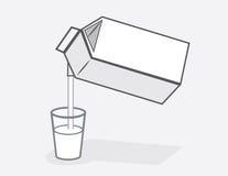 Milk Carton Pour Stock Images
