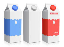 Milk carton with screw cap Stock Images