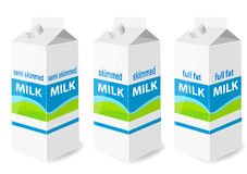 Milk carton with screw cap Royalty Free Stock Photo