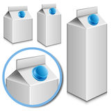 Milk carton set Stock Images