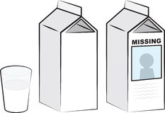 Milk Cartons. And glass of milk Royalty Free Stock Photography