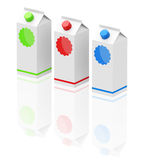Milk cartons Royalty Free Stock Images