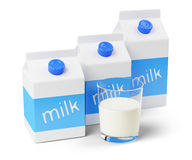 Milk cartons Stock Photography