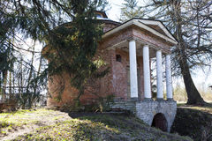 Milk cellar in the form of a rotunda. Priyutino. Leningrad Region. Priyutino - the former estate of the first director of the Public Library, the president of Stock Photos