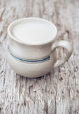 Milk in ceramic mug Royalty Free Stock Image