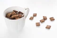 Milk and cereal Stock Images