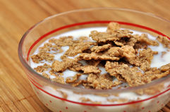 Milk with cereals Royalty Free Stock Photography