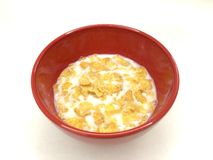Milk and cereals Stock Photo