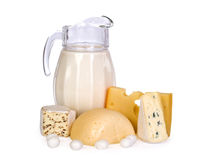 Milk and cheese Stock Photo