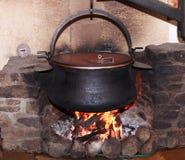 Milk and Cheese Cauldron stock image