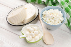 Milk cheese and curd Royalty Free Stock Image