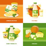 Milk And Cheese 2x2 Design Concept Stock Image