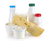 Milk cheese yogurt Stock Photo