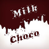 Milk and Choco Splash Royalty Free Stock Photo