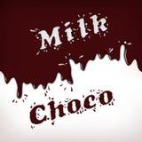 Milk and Choco Splash. Words Royalty Free Stock Photo
