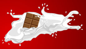 Milk with chocolate Stock Photos