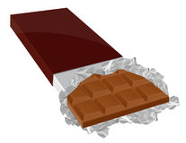 Milk chocolate. Illustration,AI file included Royalty Free Stock Image