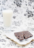 Milk and chocolate Royalty Free Stock Images