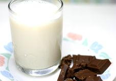Milk and Chocolate stock photos