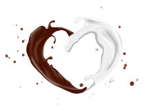 Milk and chocolate Stock Image