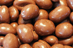Milk chocolate almonds Stock Photo