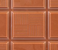 Milk chocolate bar as background. Stock Image