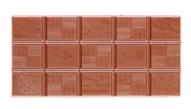 Milk chocolate bar. Royalty Free Stock Photography