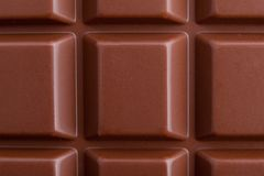 Milk chocolate bar macro very close view, from above royalty free stock photo