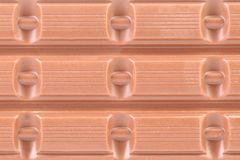 Milk chocolate bar. Royalty Free Stock Image